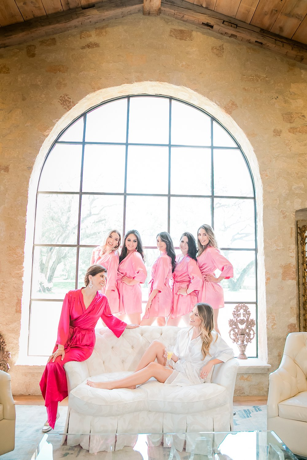 bridal suite - mother of the bride and bridesmaids robes