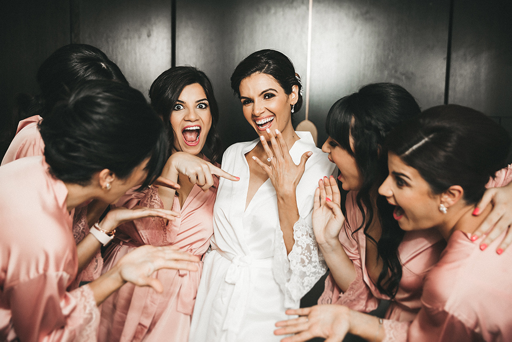 getting ready - bridal party