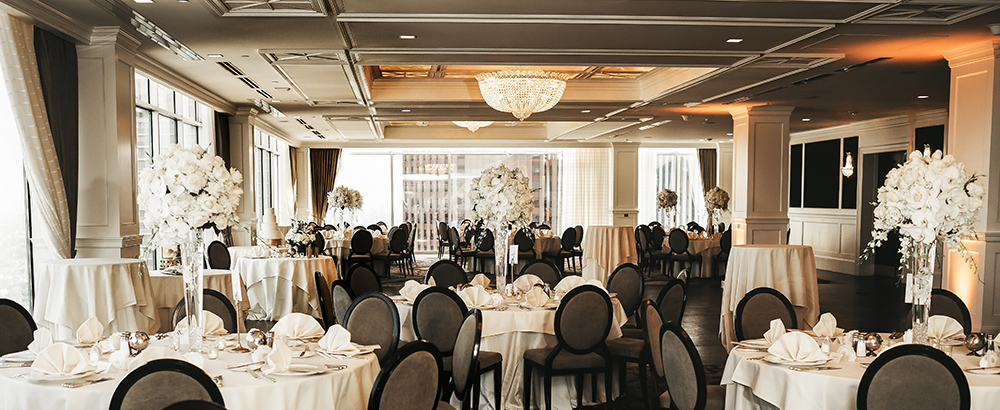 wedding reception decor - petroleum club of houston