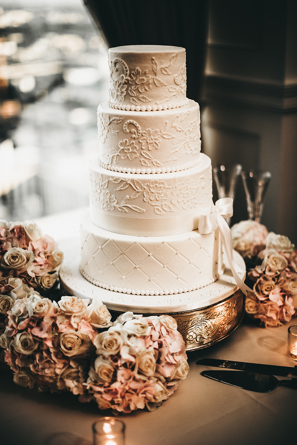wedding cake - cakes by gina