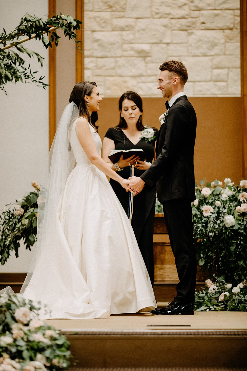 wedding - church ceremony - bride - groom