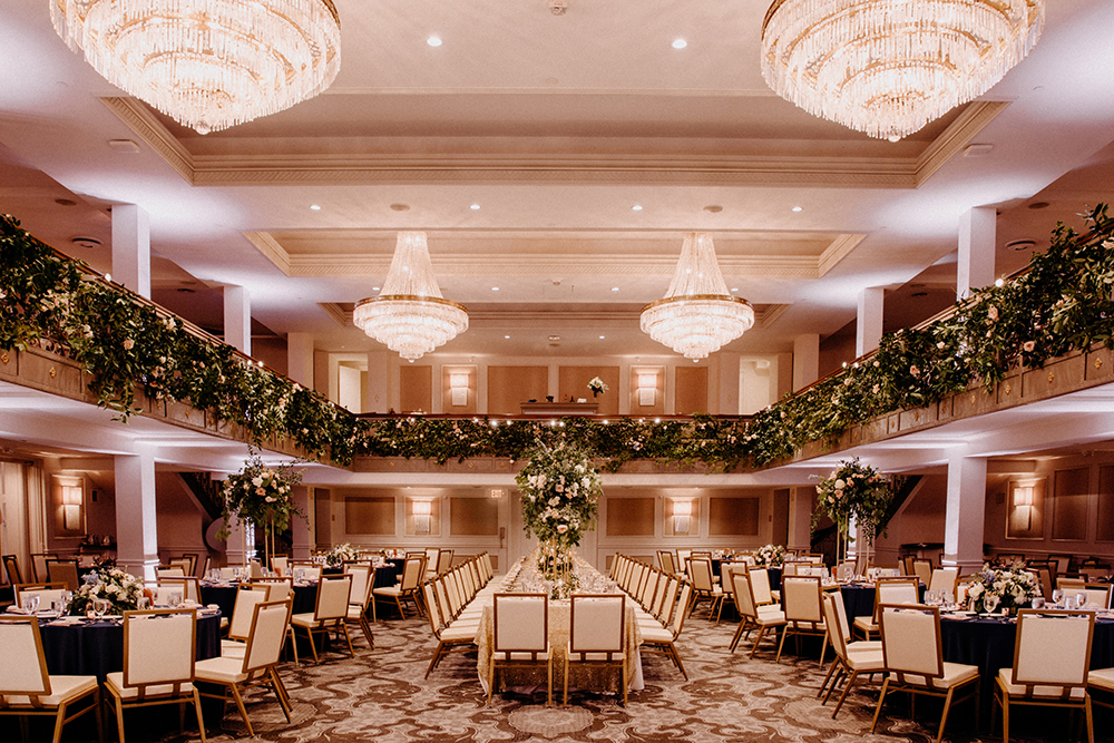 wedding - reception decor - St. Anthony Hotel - reception venue