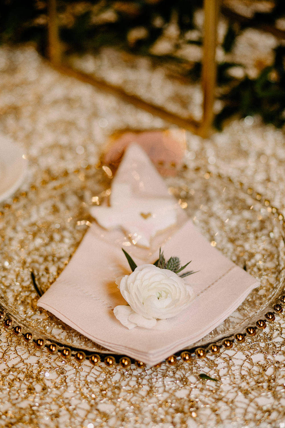 reception decor - table settings - table accents