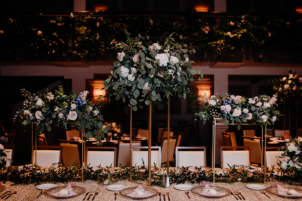 wedding reception decor - modern