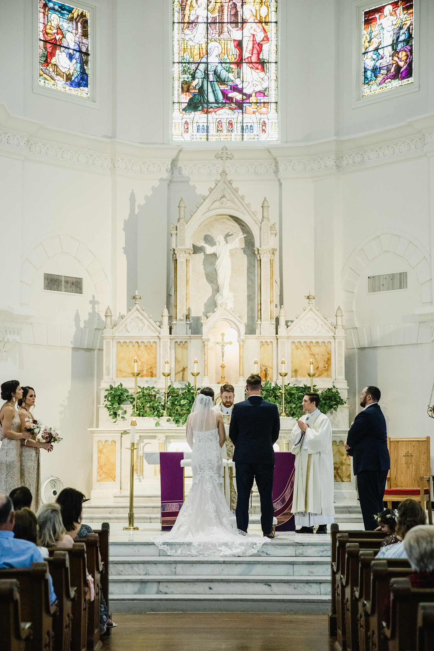 wedding ceremony - vows - altar - church - chapel