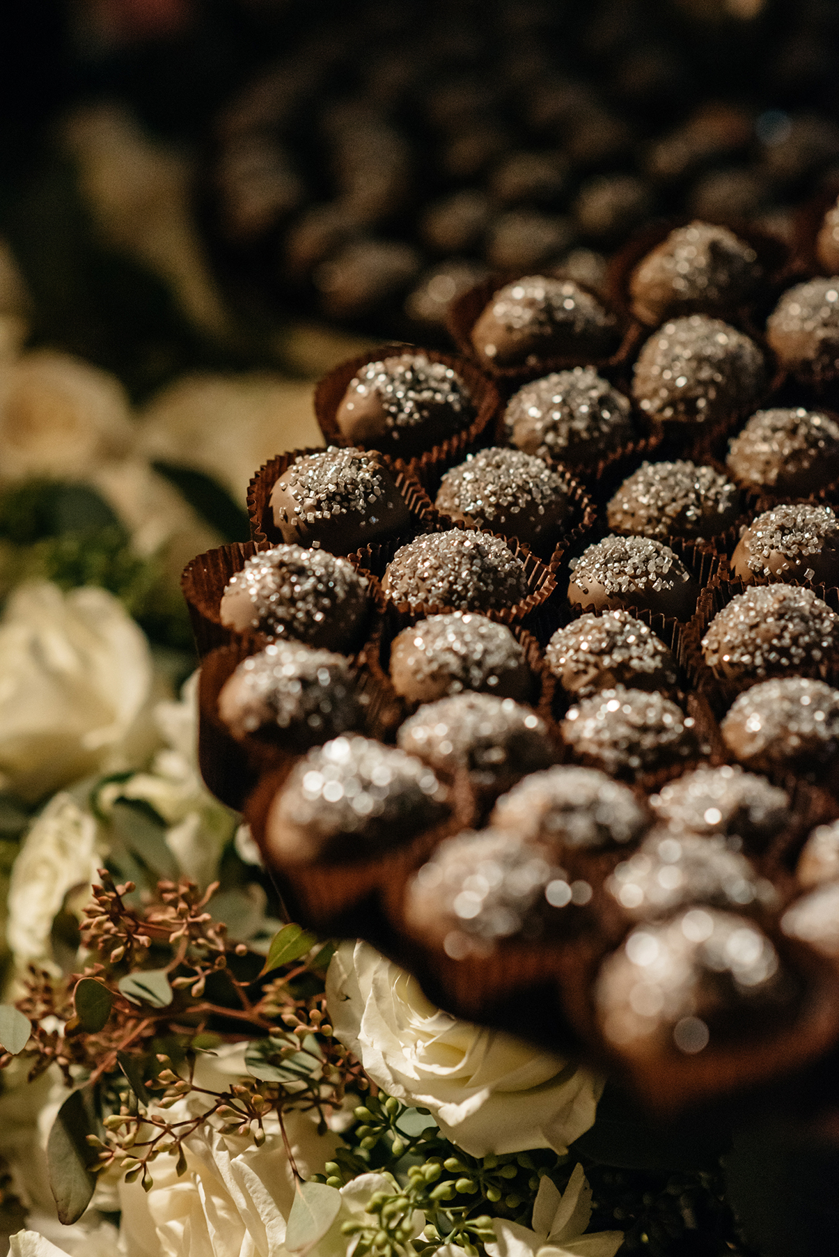 houston wedding, dessert table, catering, chocolate balls