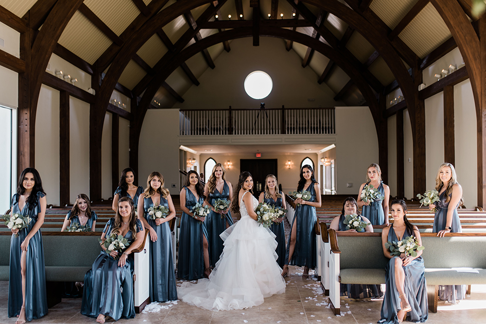 bride tribe - bridal party - chapel - ashton gardens west