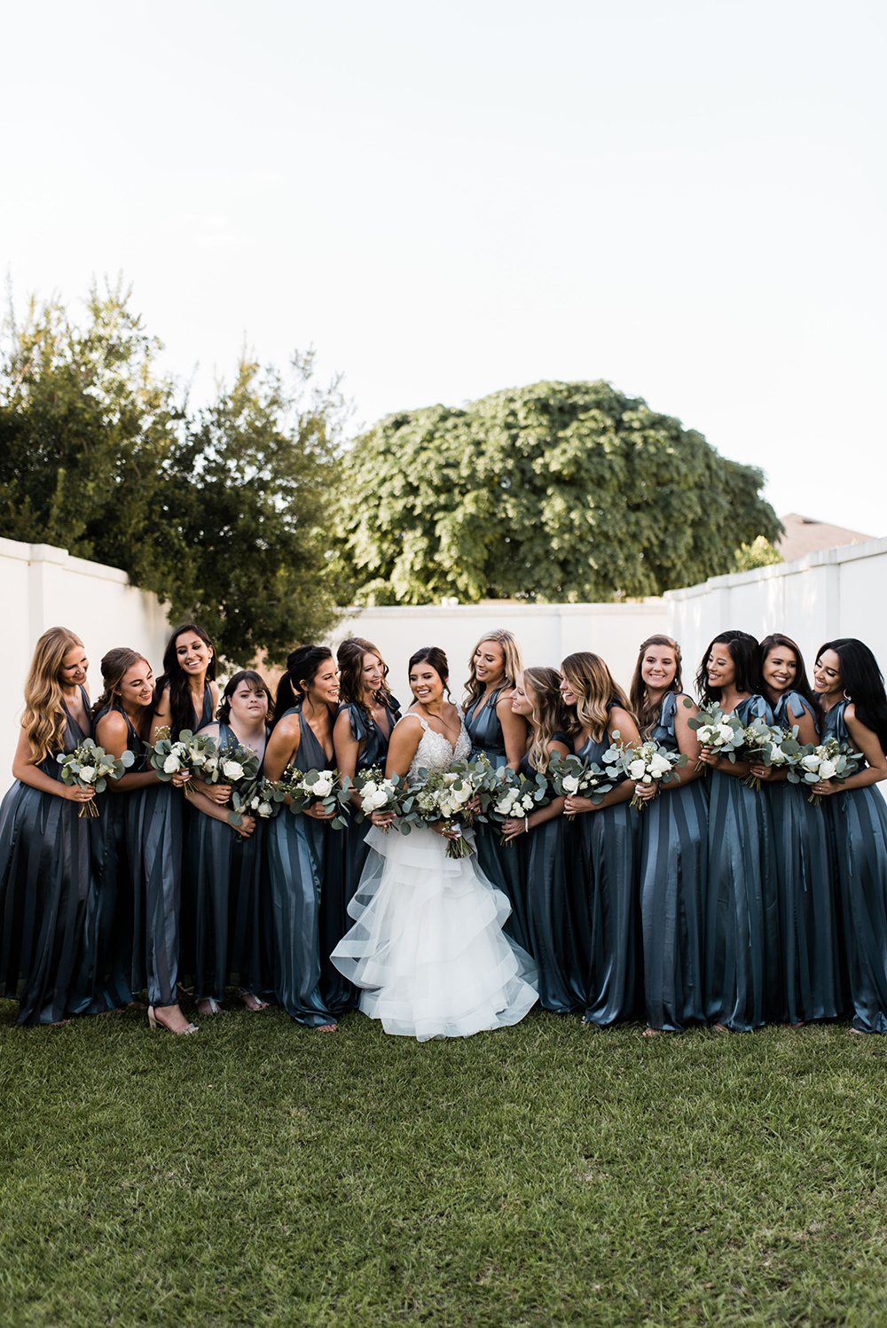bridal party - bride tribe - wedding photography