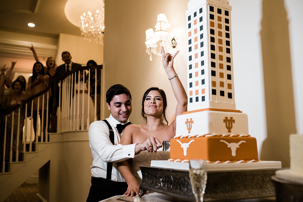 grooms cake - cakes by gina - university of texas