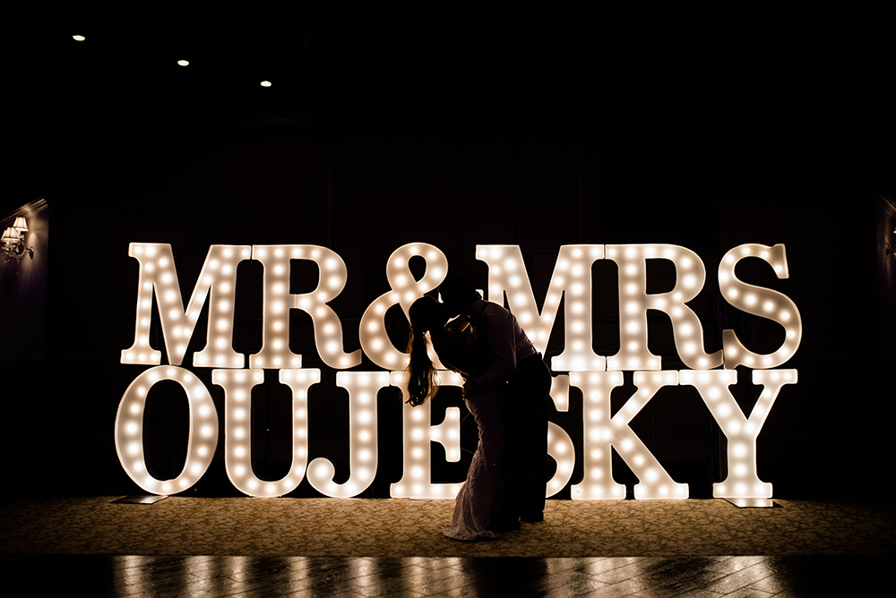 marque letters - houston wedding photography