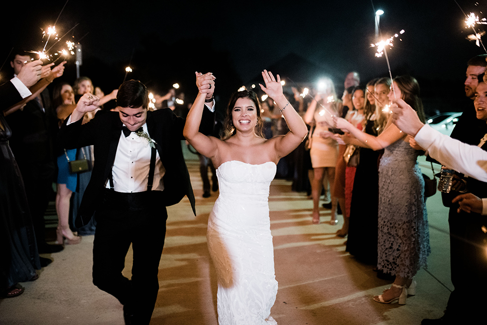 Wedding sendoff - Grand exit - sparklers