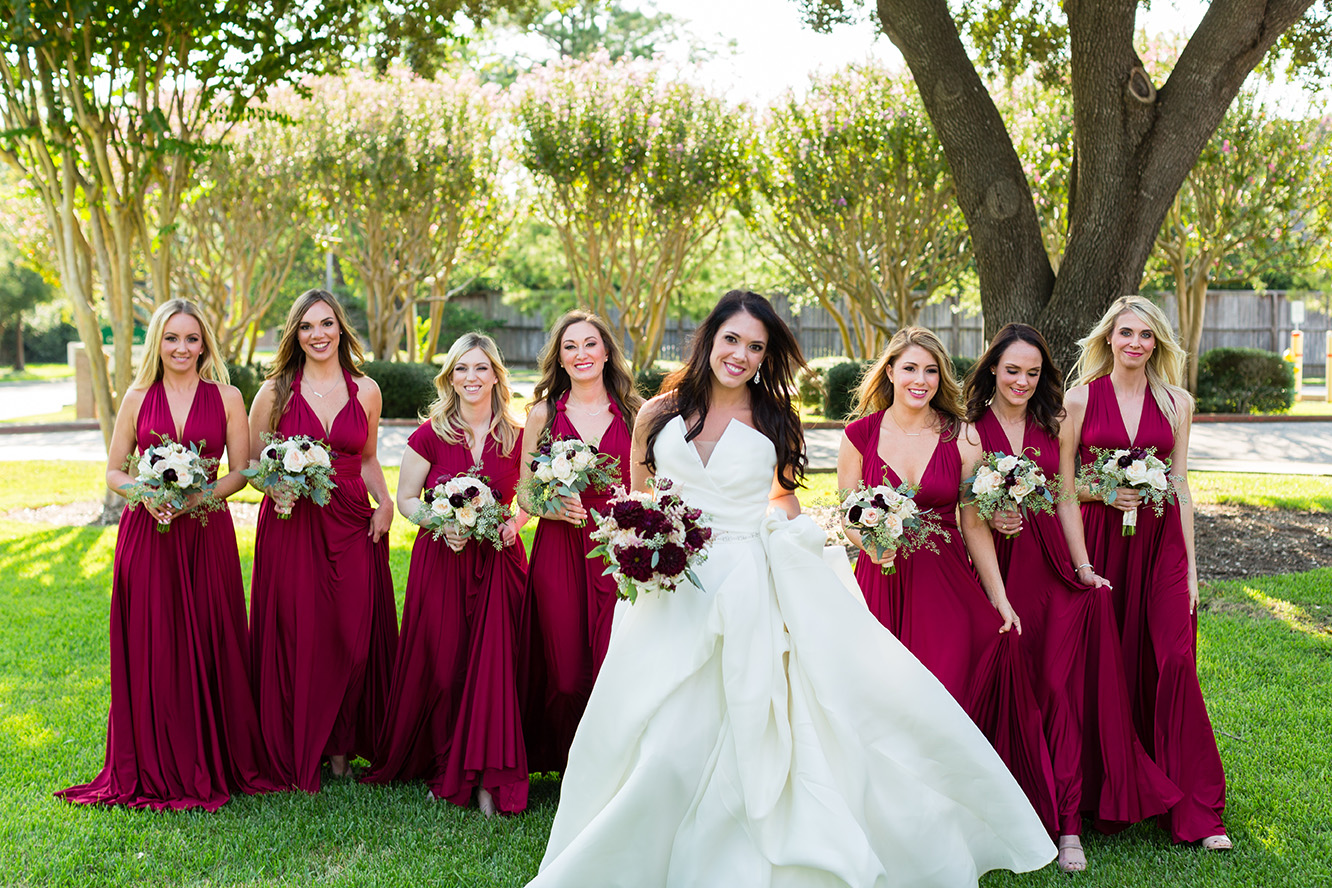 houston wedding, bridal party, bridesmaids