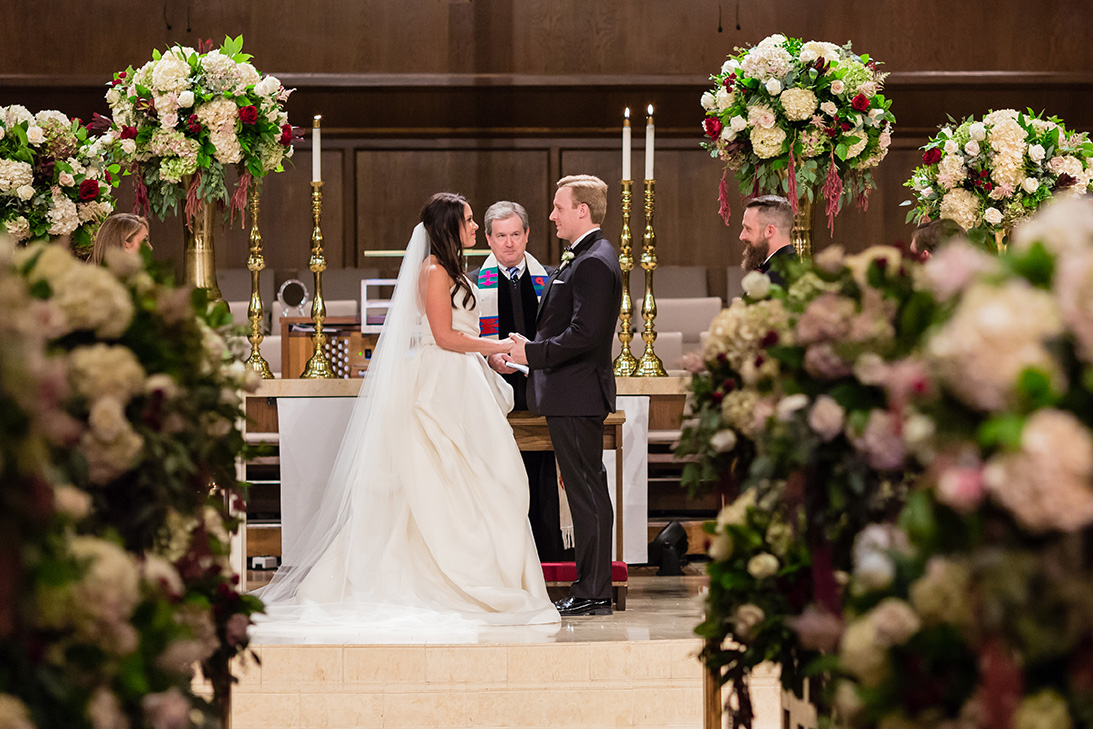 houston wedding, church ceremony, vows