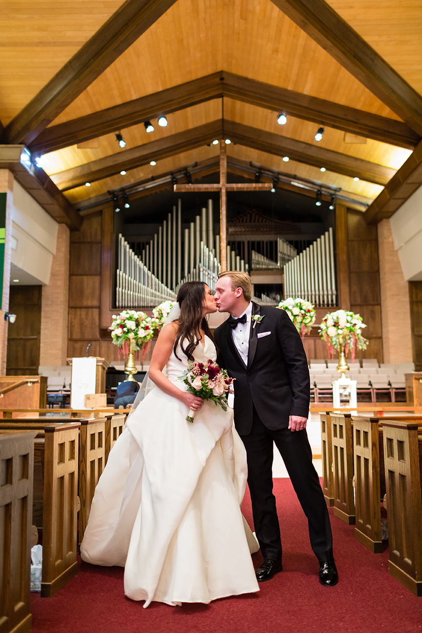 houston wedding, newlyweds, chapel, ceremony, church