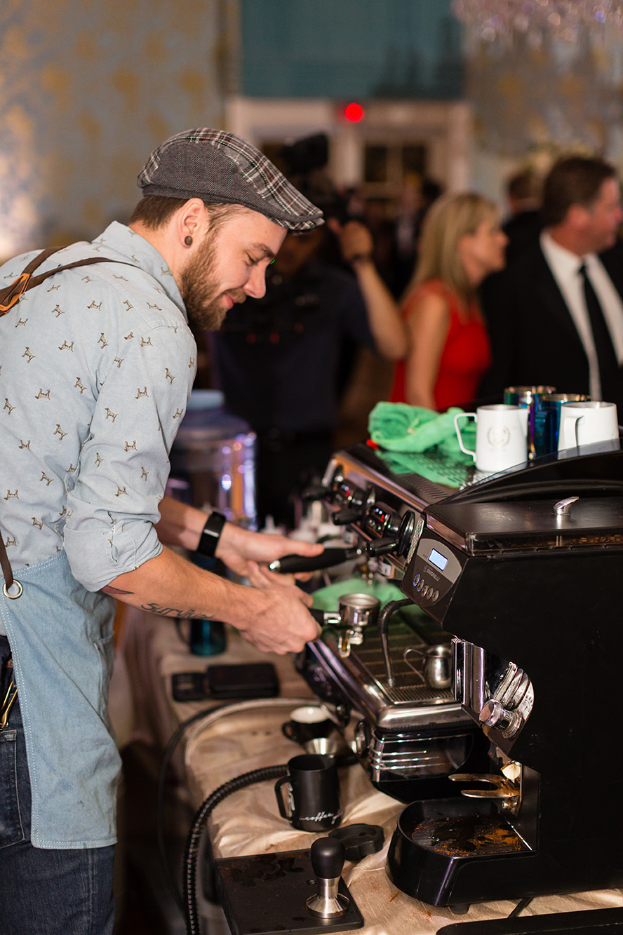 houston wedding, barista, coffee station, beverages