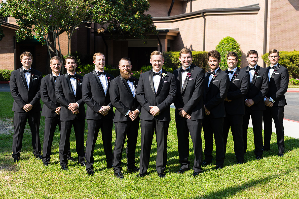 houston wedding, groom, groomsmen