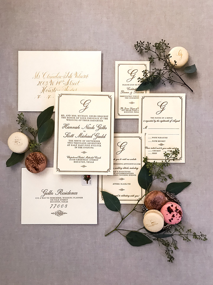 houston wedding, invitations, stationery