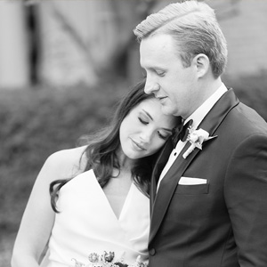 houston wedding, happy couple, black & white