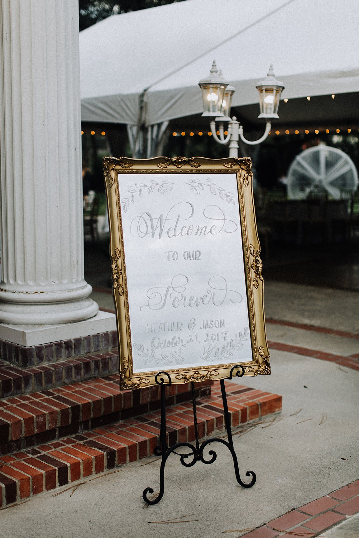 wedding photography, welcome sign, mirror, texas, real wedding