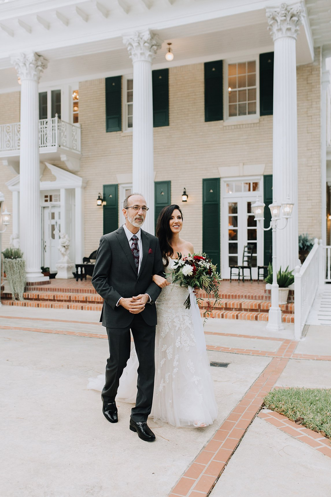 texas wedding, real wedding, bride, father of the bride, gardens at madeley manor, conroe