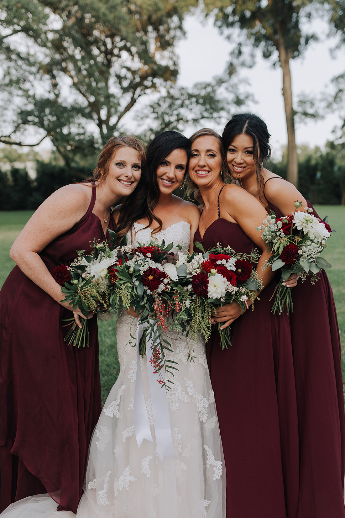 bridesmaids, bride, bridal party