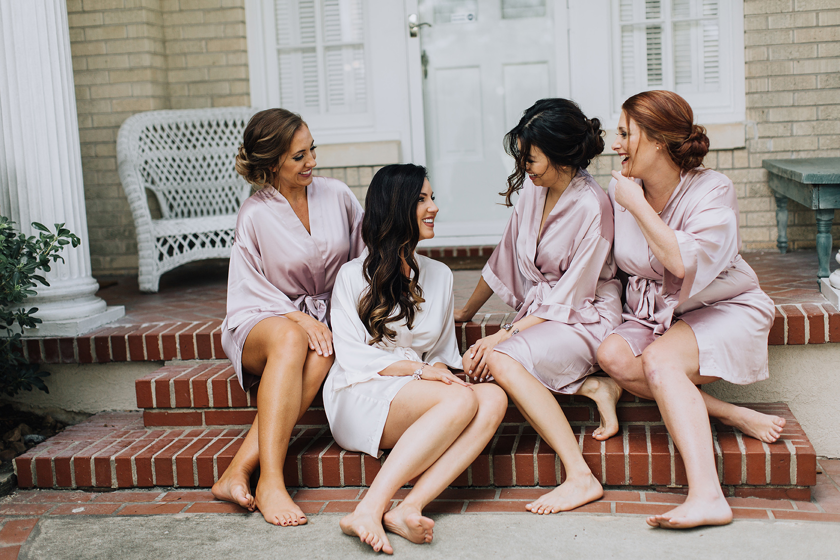 bridal party, bridesmaids, getting ready, robes, bridal, wedding photography