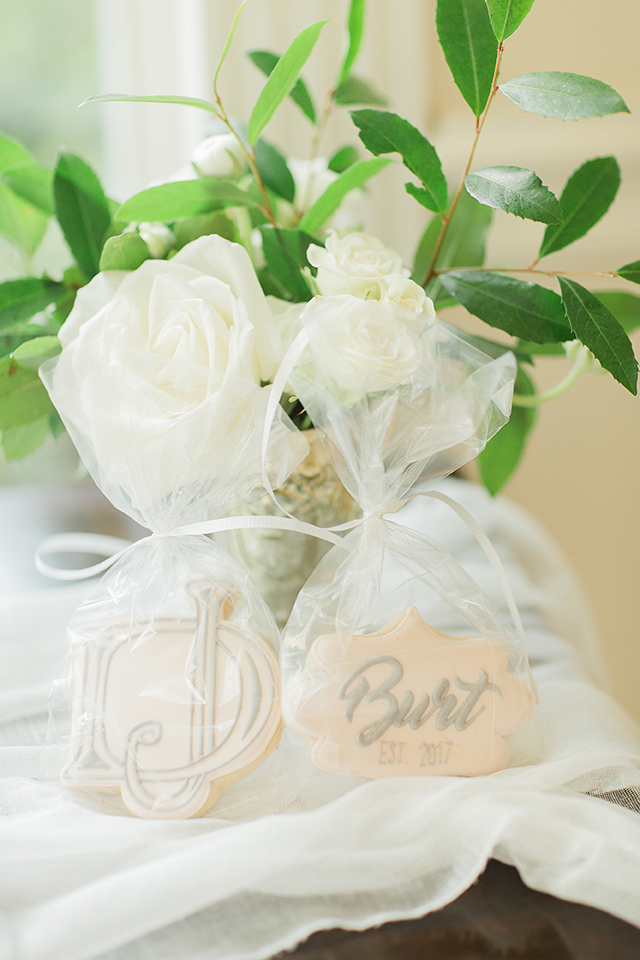 houston wedding, gifts, guest favors, cookies