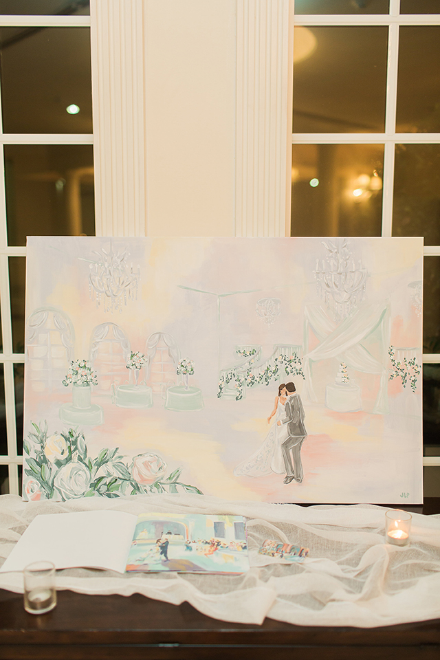 houston wedding, live painter, wedding ideas