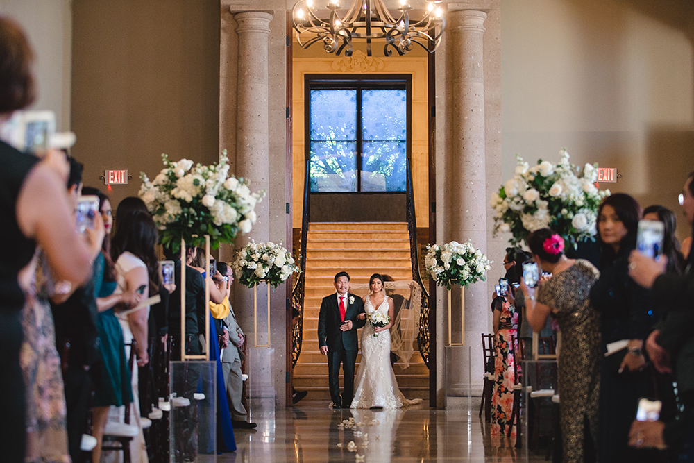 wedding ceremony decor - bell tower on 34th
