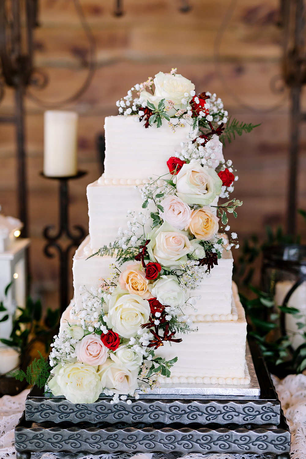 wedding cake - floral - classic