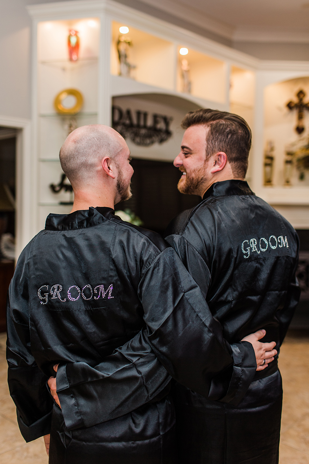 wedding photography - getting ready - groom robes