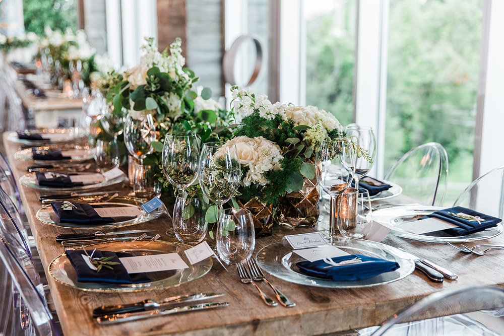 table setting - wedding reception decor