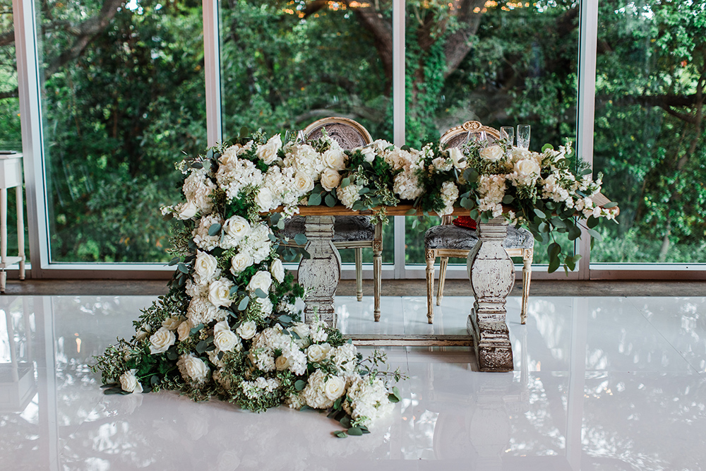 sweet heart table - wedding - reception decor