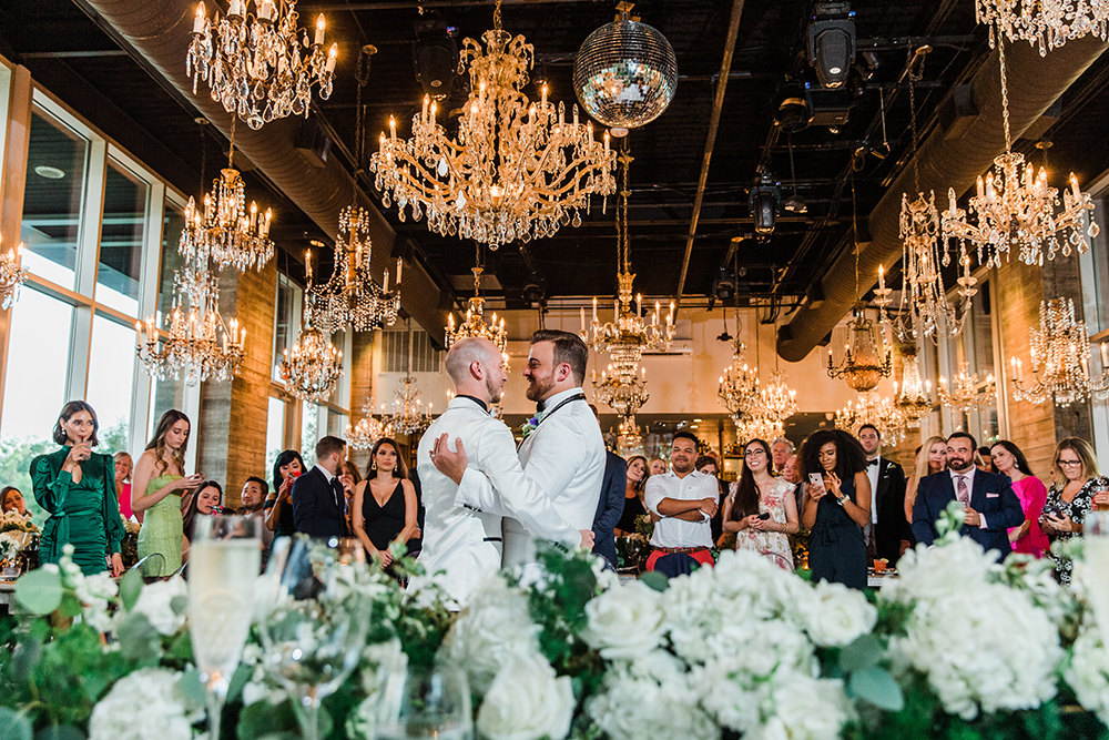 wedding reception entertainment - first dance - same sex - groom