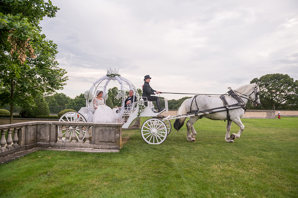 cinderella carriage - grand entrance - wedding