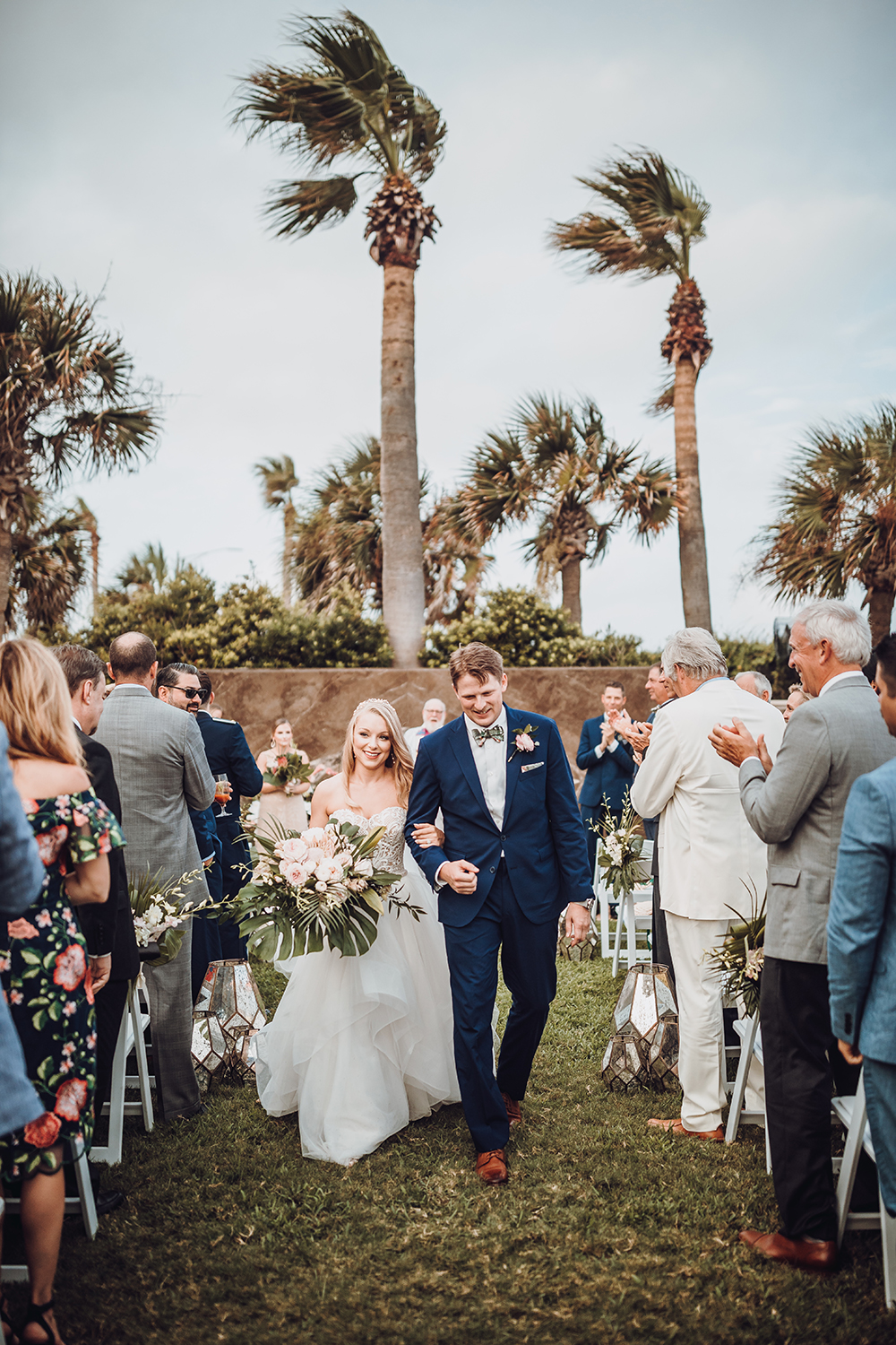 outdoor wedding ceremony - galveston - tropical