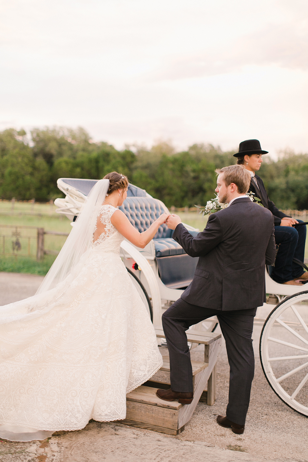 leaving the ceremony - horsedrawn carriage