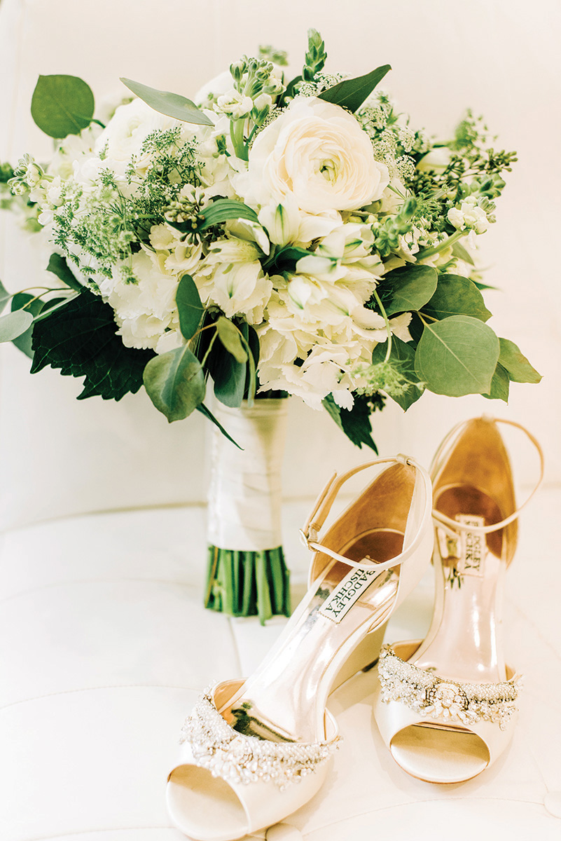 bridal bouquet - shoes - heels - wedding fashion