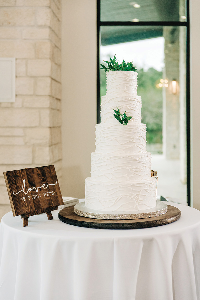 wedding cake - simple, white