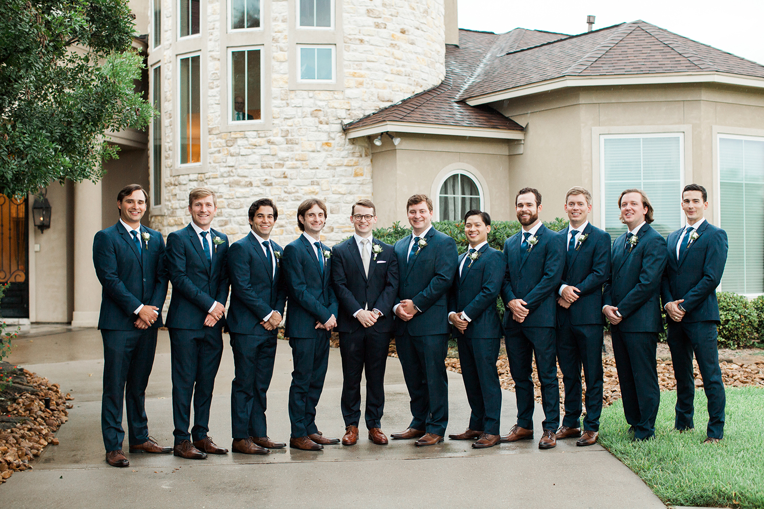 wedding party - blue suits - groomsmen