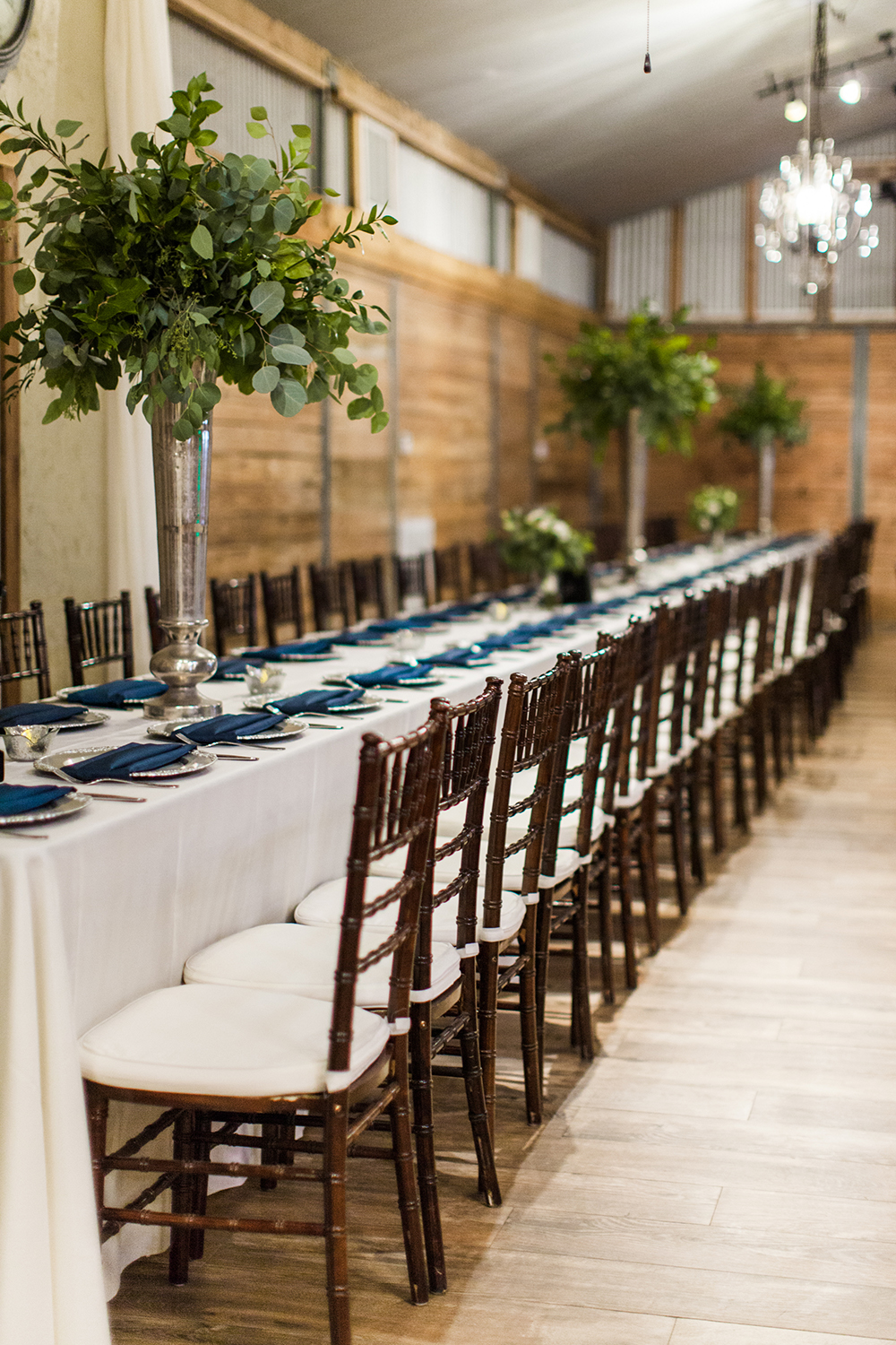 wedding reception - rustic decor and flowers