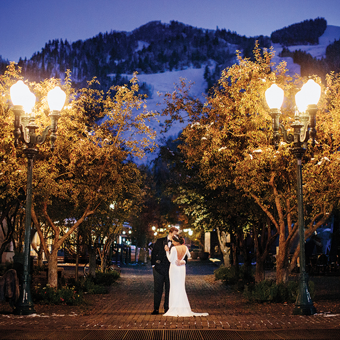wedding photo - colorado mountains