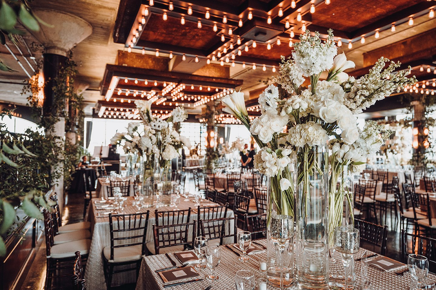 Houston Wedding, The Astorian, White Floral Centerpiece, Champagne, Wedding Decor, Wedding Ideas