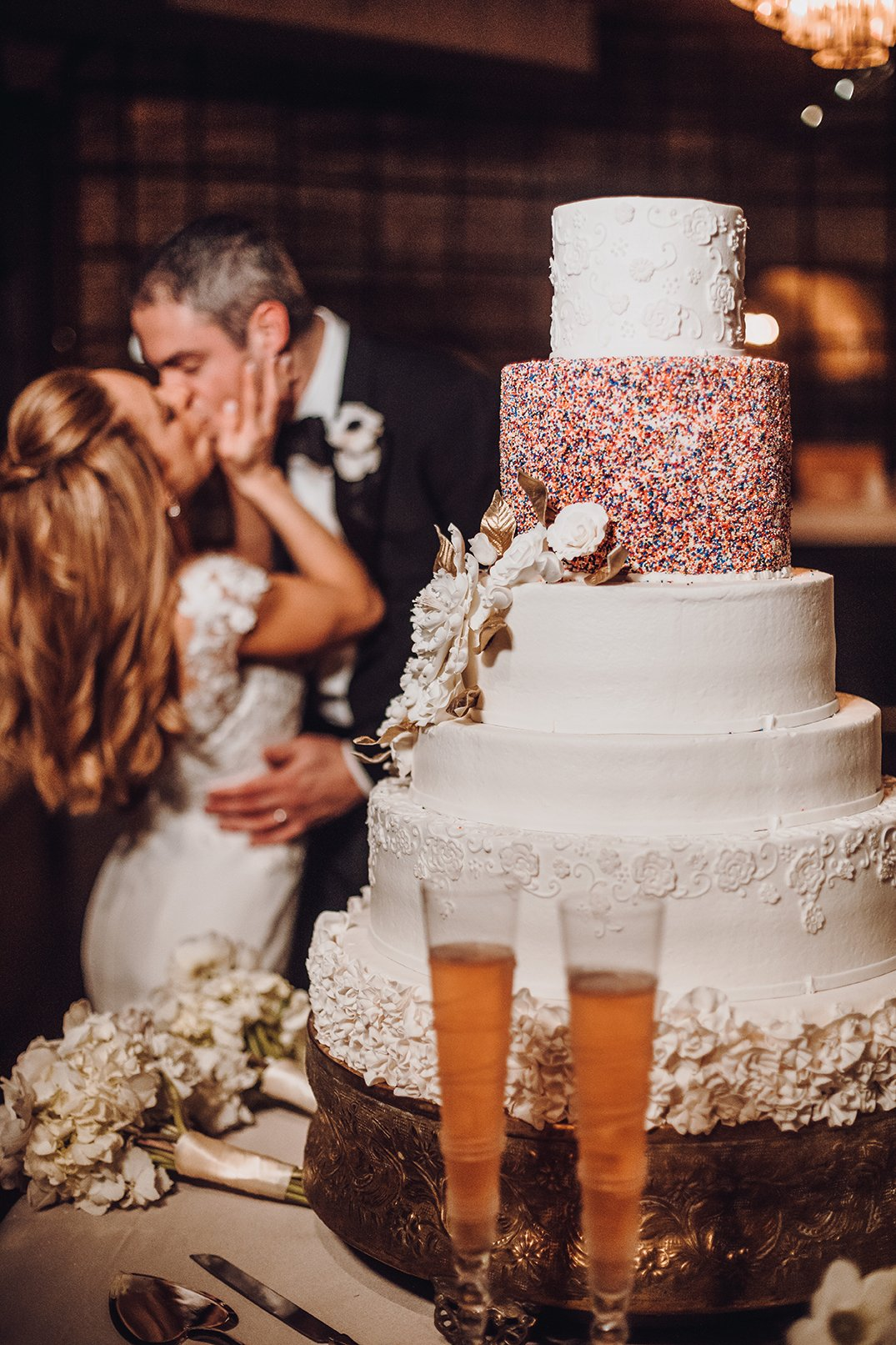 Houston Wedding, Wedding Cake, Sprinkle, White Cake, Cake Inspiration