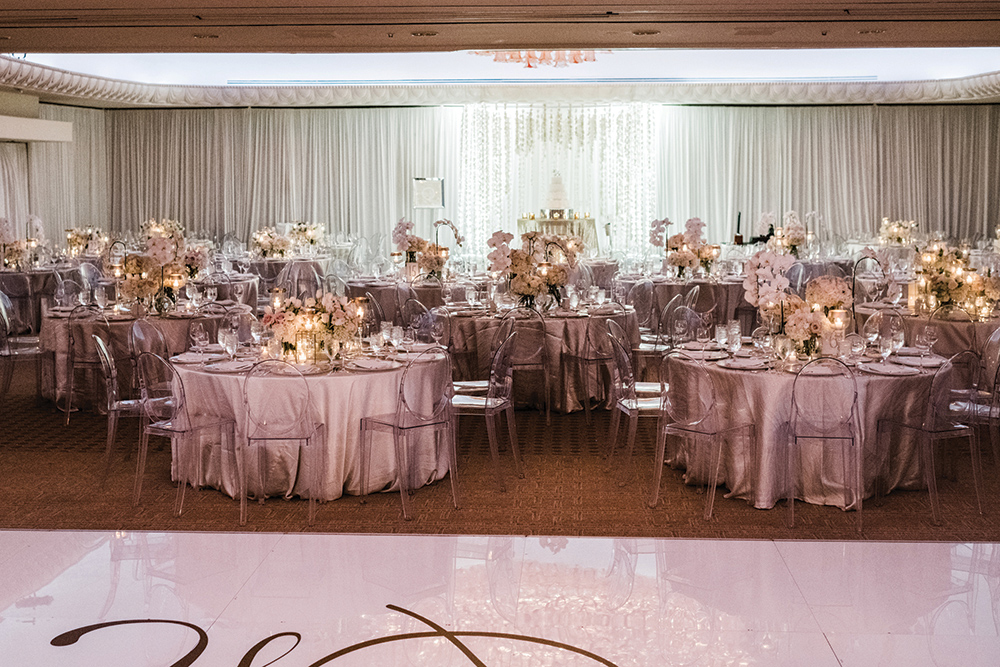 indoor wedding reception - ballroom