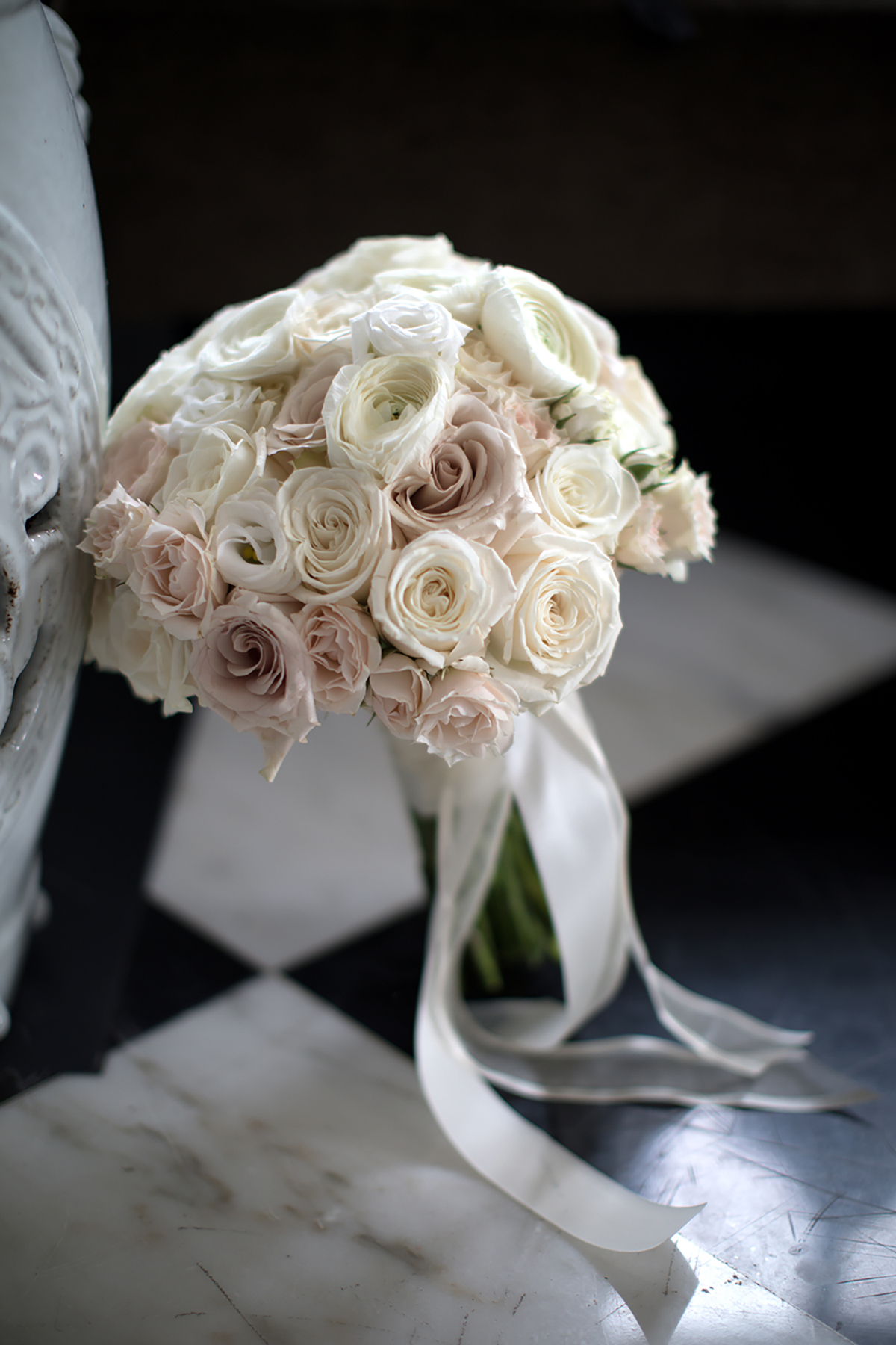 bridal bouquet - blush, ivory