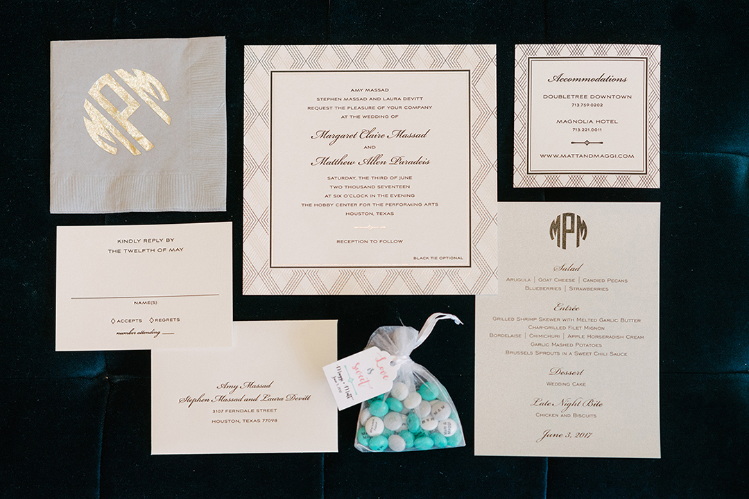 houston wedding, stationery, invitations