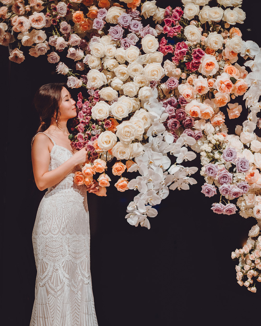 corinthian, houston, cranes, paper, unique, photography, romantic, reception, flowers, plants