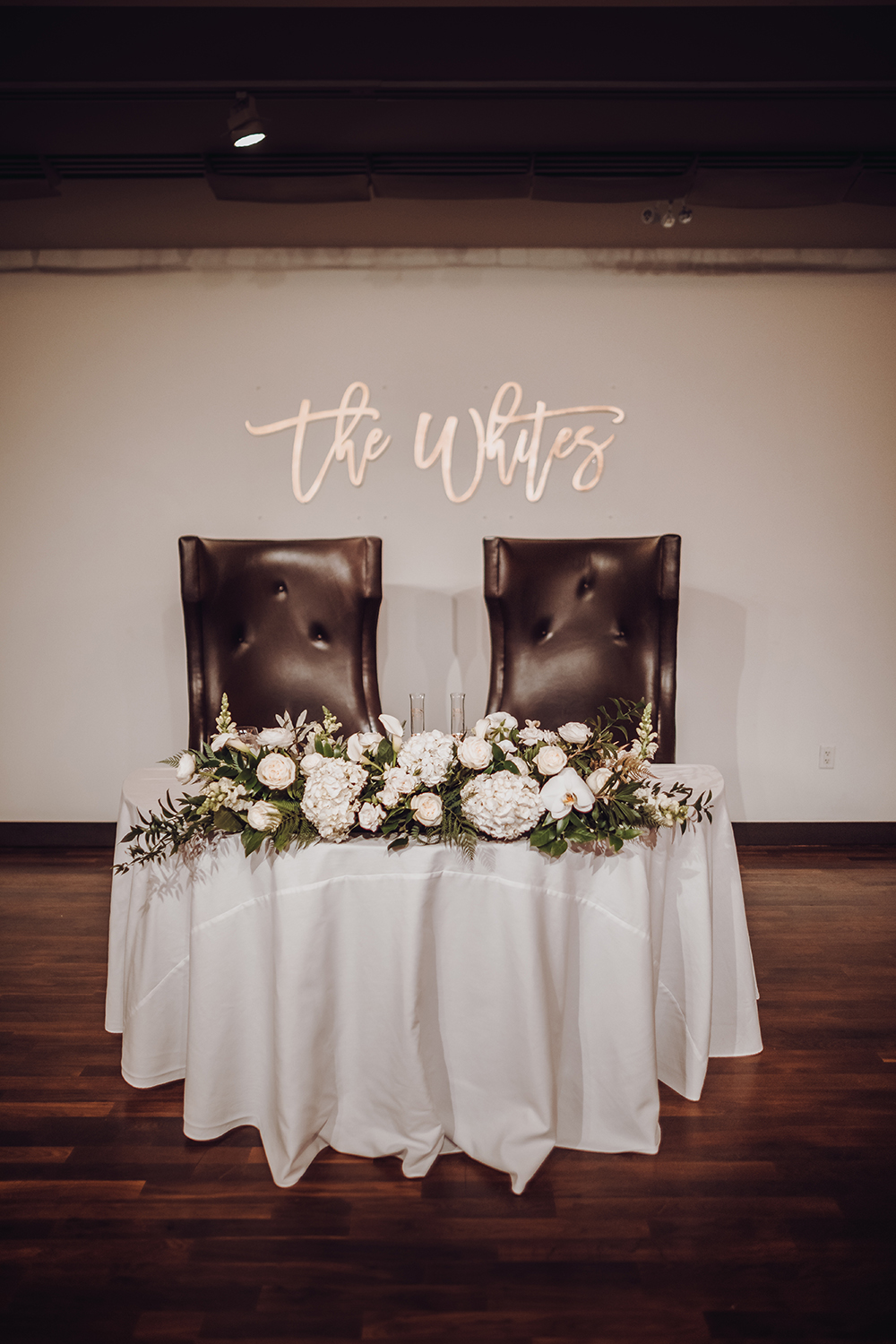 his her table - wedding reception decor