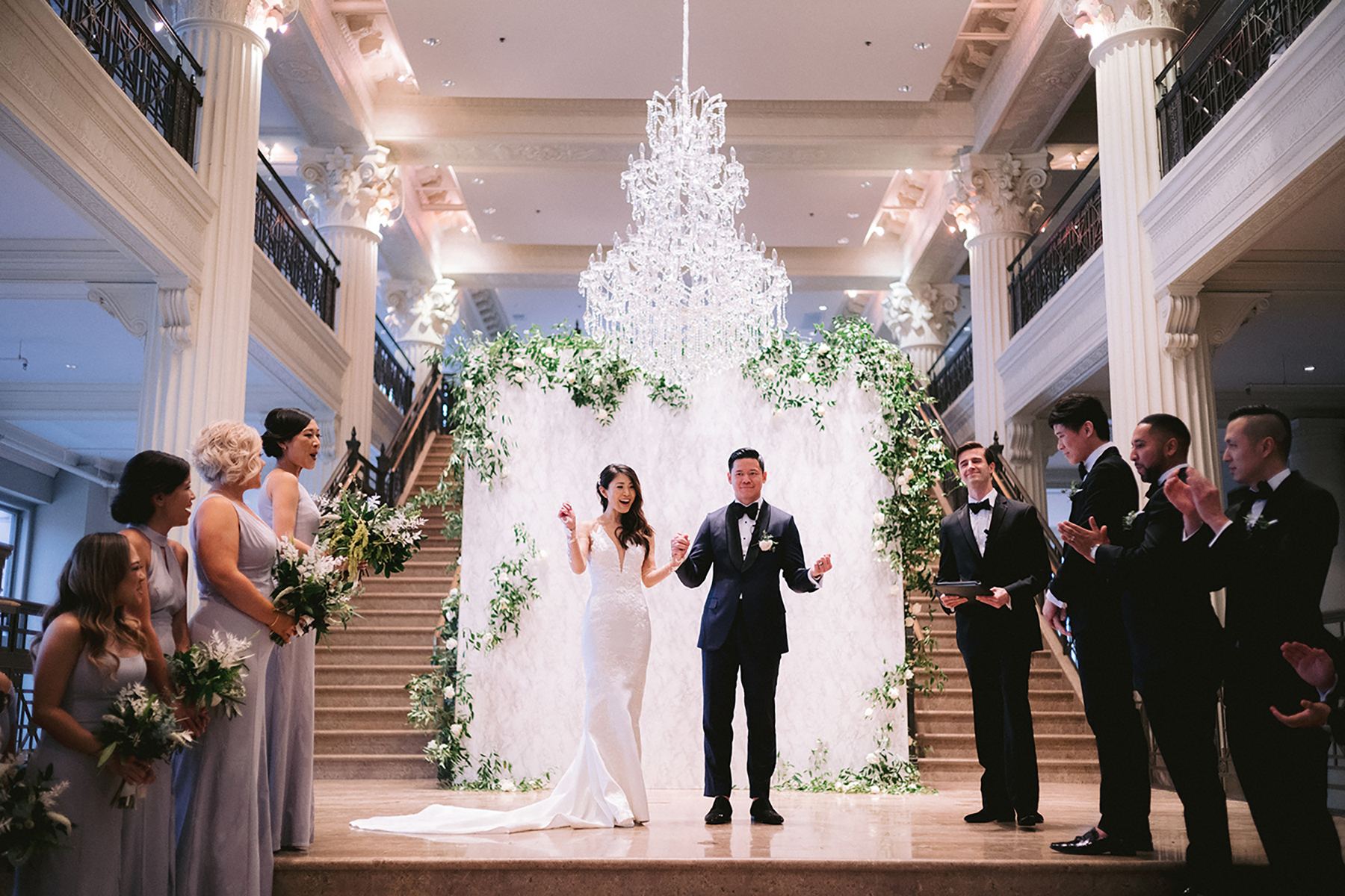 wedding ceremony at luxury venue